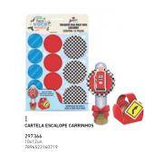 CARTELA ESCALOPE CARRINHOS PCT C/12 UNIDADES