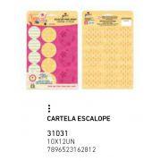 CARTELA ESCALOPE FLAMINGO PCT C/12 UNIDADES
