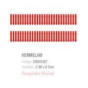 CERQUINHA DECORATIVA VERMELHA PCT C/1 UNIDADE
