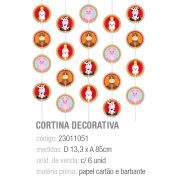 CORTINA DECORATIVA FAZENDINHA PCT C/6 UNIDADES