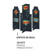 ENFEITE DE MESA SUPER HERO BOY PCT C/6 UNIDADES