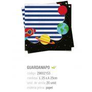 GUARDANAPO ASTRONAUTA 25x25 PCT C/20 UNIDADES