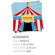 GUARDANAPO CIRCUS 25x25 PCT C/20 UNIDADES