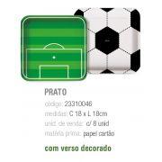 PRATO QUADRADO FUTEBOL 18x18 PCT C/8 UNIDADES