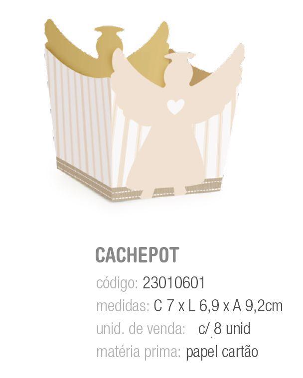 CACHEPOT BATISMO 7x6,9x9,2 PCT C/8 UNIDADES