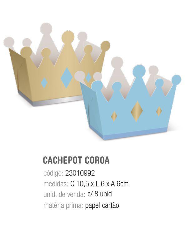 CACHEPOT COROA COMP REINADO DO PRINCIPE 10,5x6x6 PCT C/8 UNIDADES