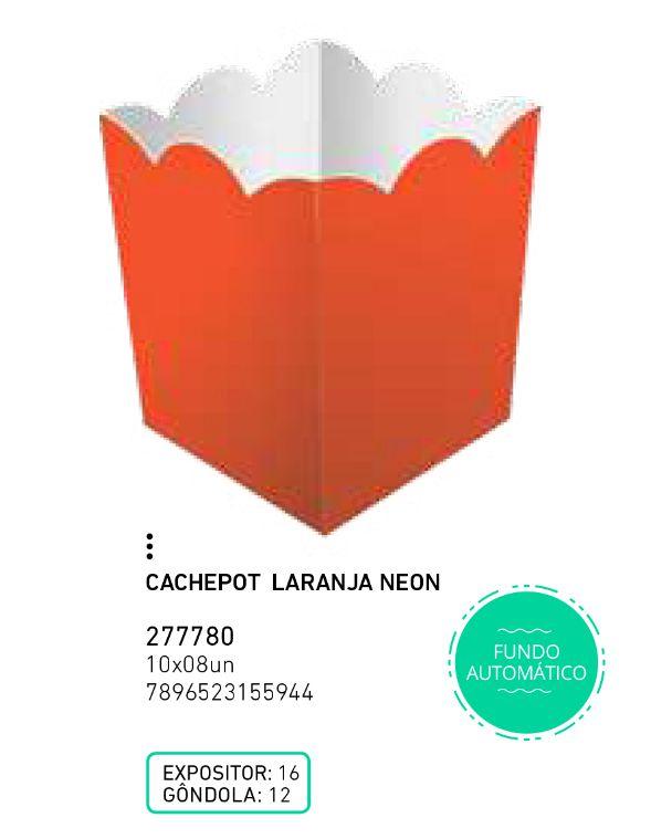 CACHEPOT LIVE COLORS LARANJA NEON PCT C/8 UNIDADES
