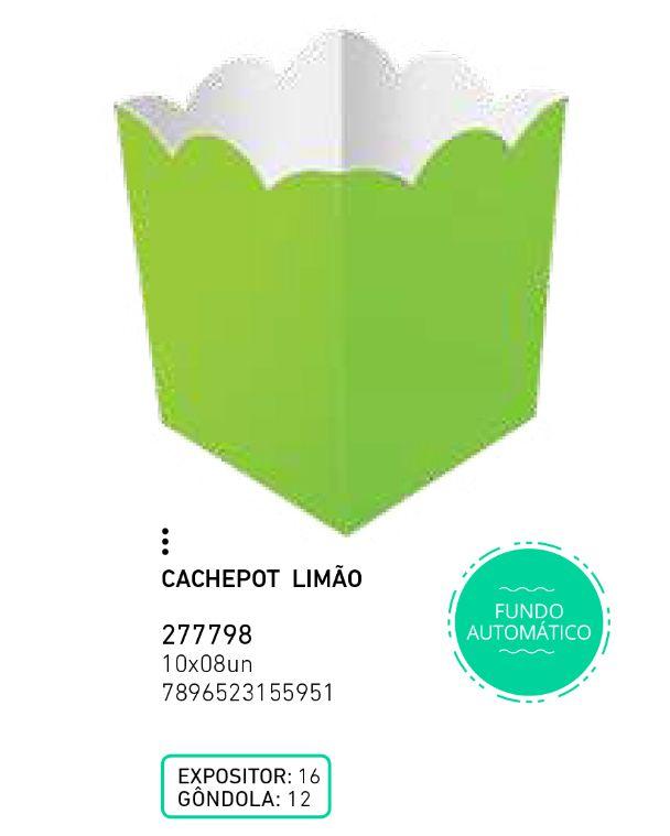 CACHEPOT LIVE COLORS LIMAO PCT C/8 UNIDADES