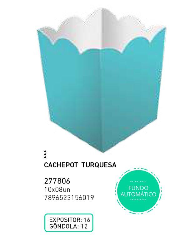 CACHEPOT LIVE COLORS TURQUESA PCT C/8 UNIDADES