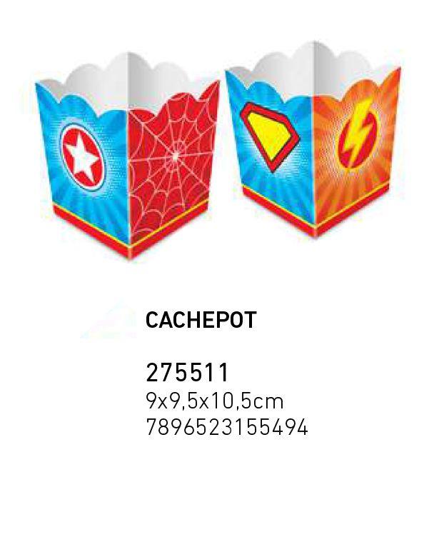 CACHEPOT SUPER HERO BOY PCT C/8 UNIDADES
