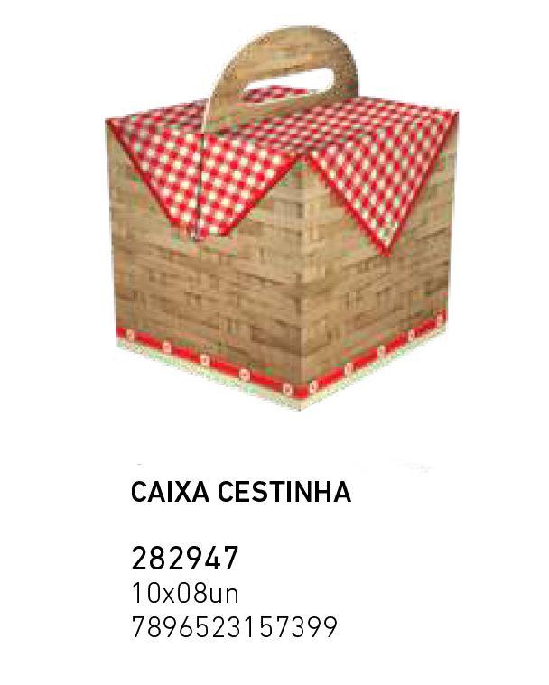 CAIXA CESTINHA CHAPEUZINHO VM PCT C/8 UNIDADES