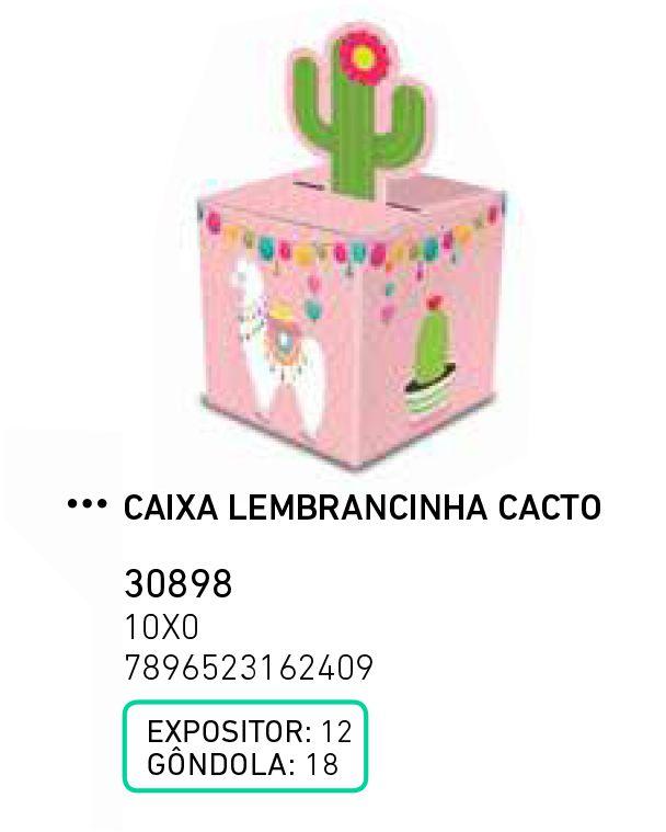 CAIXA LEMBRANCINHA CACTO LHAMA PCT C/8 UNIDADES