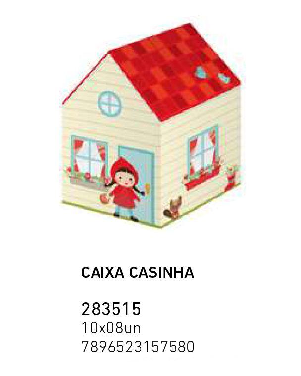 CAIXA LEMBRANCINHA CASA CHAPEUZINHO VM PCT C/8 UNIDADES