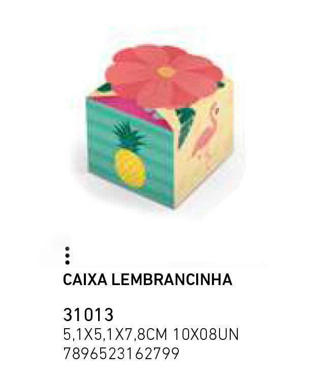 CAIXA LEMBRANCINHA FLAMINGO PCT C/8 UNIDADES