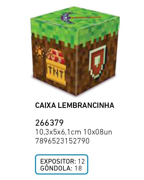 CAIXA LEMBRANCINHA MINI PIXELS PCT C/8 UNIDADES
