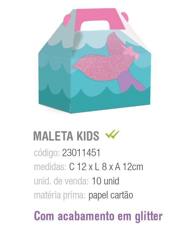 CAIXA MALETA KIDS SEREIA M 12x8x12 PCT C/10 UNIDADES