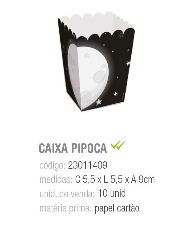 CAIXA P/PIPOCA ASTRONAUTA PP 5,5x5,5x9 PCT C/10 UNIDADES