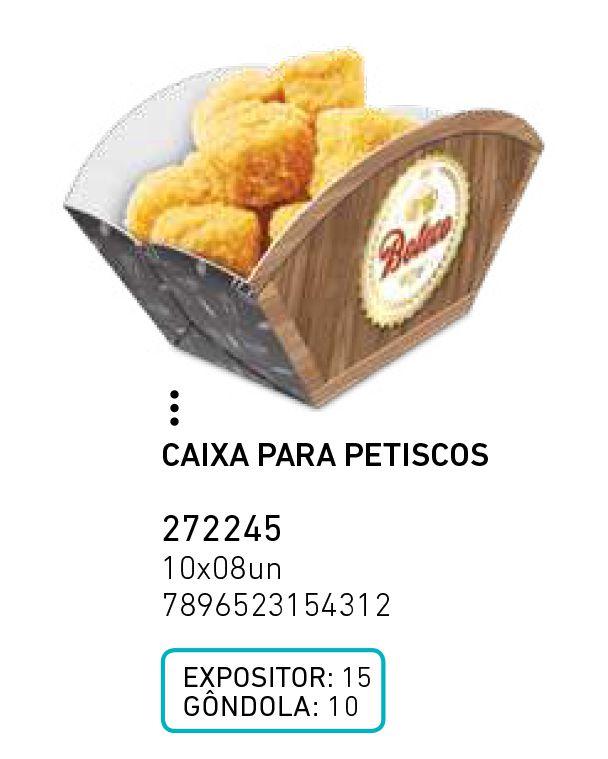 CAIXA PARA PETISCOS BOTECO PCT C/8 UNIDADES