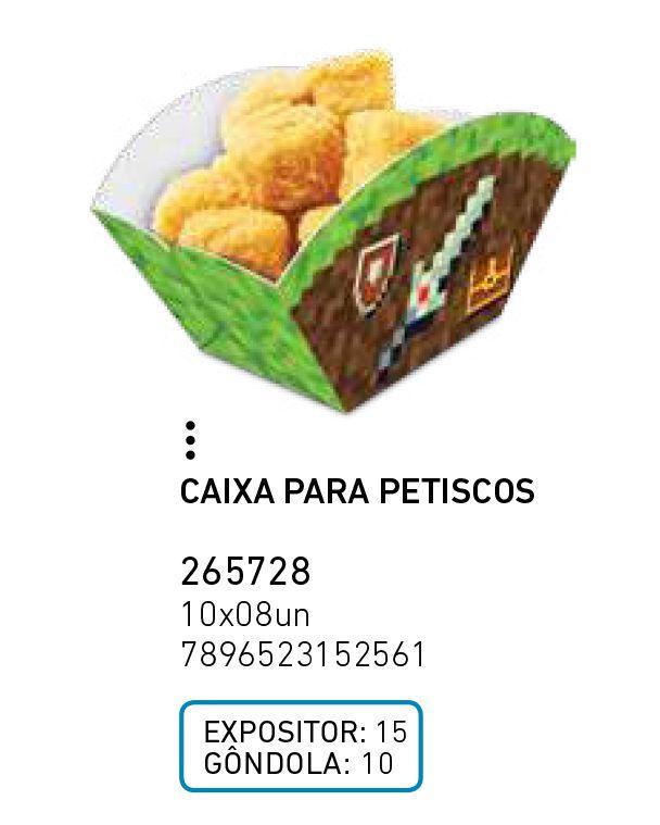 CAIXA PARA PETISCOS MINI PIXELS PCT C/8 UNIDADES