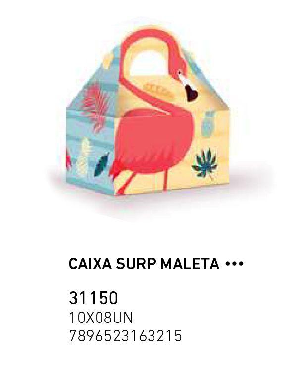 CAIXA SURP MALETA FLAMINGO PCT C/8 UNIDADES