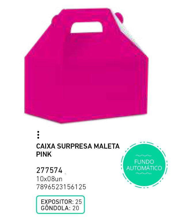 CAIXA SURP MALETA LIVE COLORS PINK PCT C/8 UNIDADES