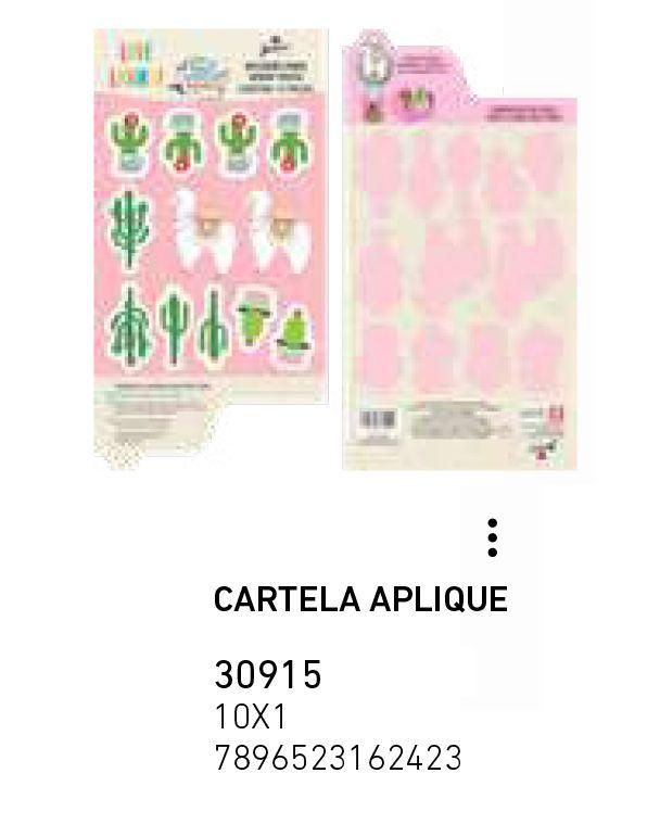CARTELA APLIQUE LHAMA PCT C/16 UNIDADES
