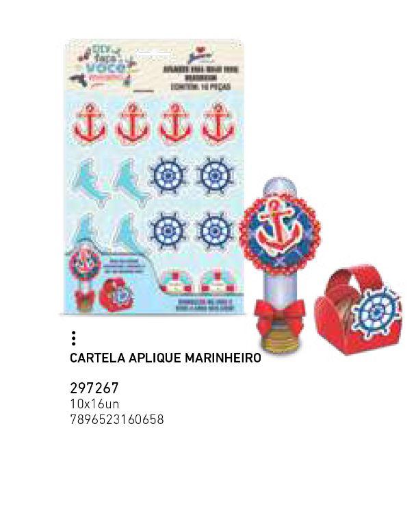 CARTELA APLIQUE MARINHEIRO PCT C/16 UNIDADES