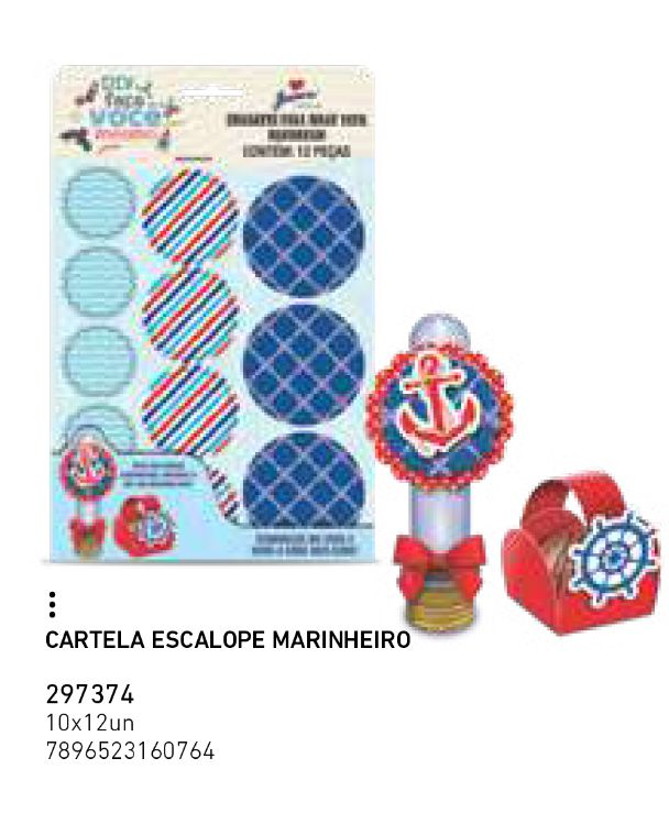 CARTELA ESCALOPE MARINHEIRO PCT C/12 UNIDADES