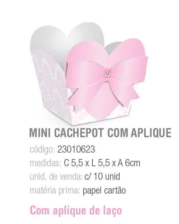 CESTINHA C/APLIQUE BALLET P 5,5x5,5x6 PCT C/10 UNIDADES
