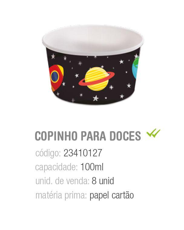 COPINHO P/DOCES ASTRONAUTA 100ML PCT C/8 UNIDADES