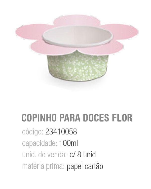 COPINHO P/DOCES FLOR JARDIM SECRETO 100ML PCT C/8 UNIDADES