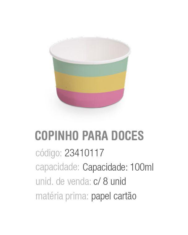 COPINHO P/DOCES PEDACINHO DO CEU 100ML PCT C/8 UNIDADES