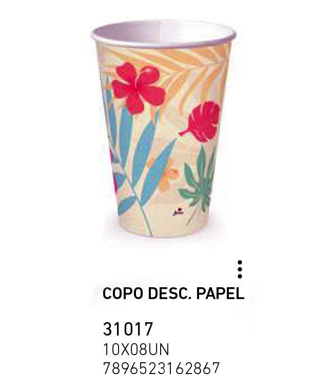 COPO DESC. PAPEL FLAMINGO 180ml PCT C/8 UNIDADES