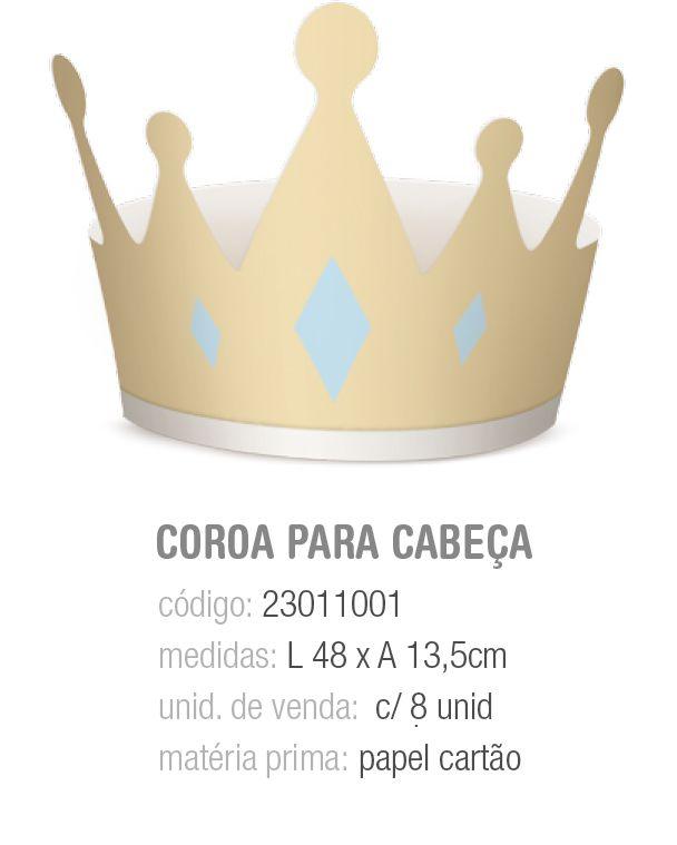 COROA REINADO DO PRINCIPE 14x14,5 PCT C/8 UNIDADES
