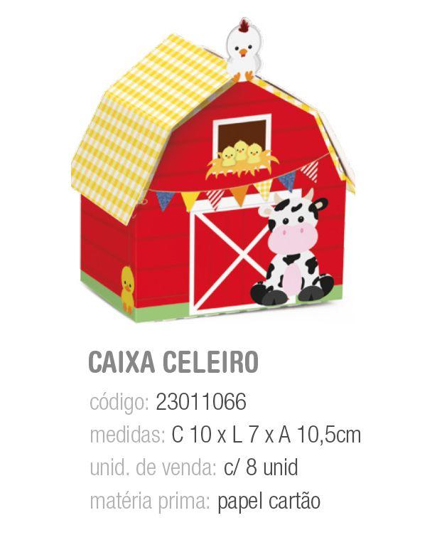 CX CELEIRO FAZENDINHA 10x7x10,5 PCT C/8 UNIDADES