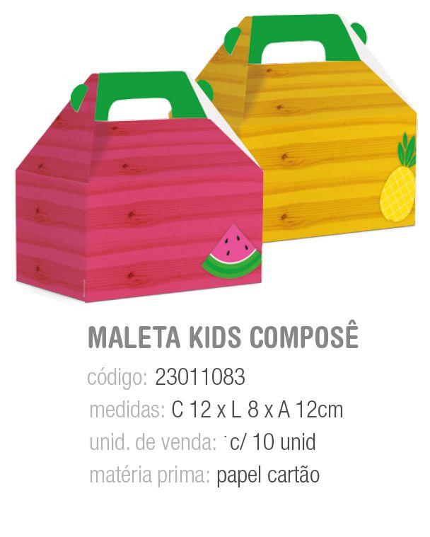 CX MALETA KIDS COMPOSE QUITANDINHA M 12x8x12 PCT C/10 UNIDADES