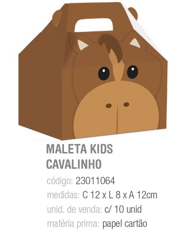 CX MALETA KIDS FAZENDINHA CAVALINHO M 12x8x12 PCT C/10 UNIDADES