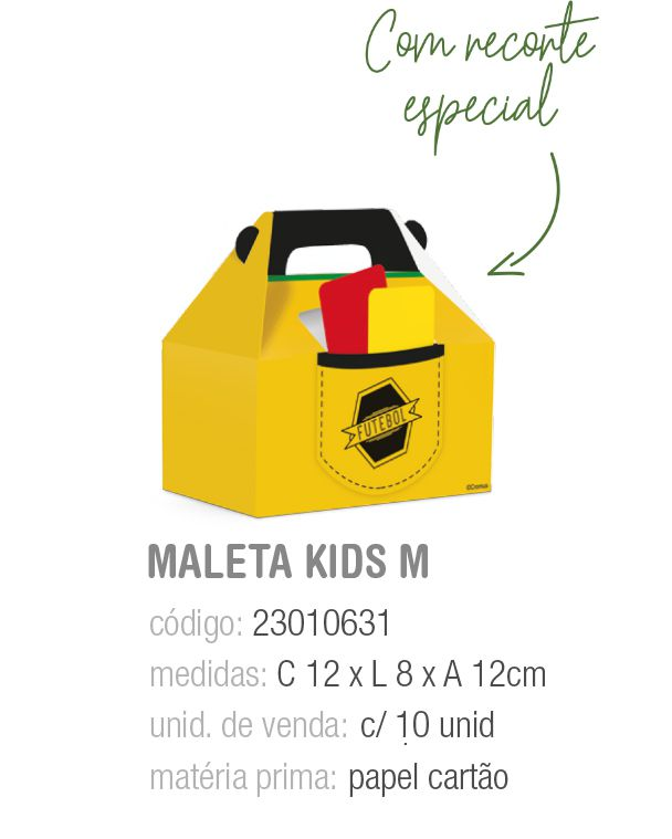 CX MALETA KIDS FUTEBOL M 12x8x12 PCT C/10 UNIDADES