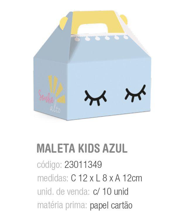 CX MALETA KIDS PEDACINHO DO CEU AZUL M 12x8x12 PCT C/10 UNIDADES