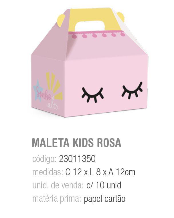 CX MALETA KIDS PEDACINHO DO CEU ROSA M 12x8x12 PCT C/10 UNIDADES