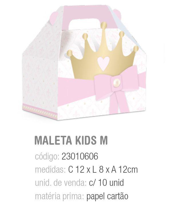 CX MALETA KIDS REINADO DA PRINCESA M 12x8x12 PCT C/10 UNIDADES
