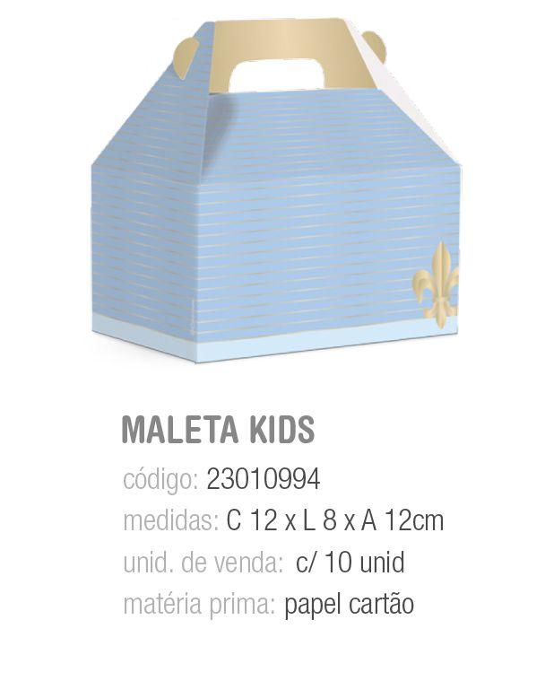 CX MALETA KIDS REINADO DO PRINCIPE M 12x8x12 PCT C/10 UNIDADES