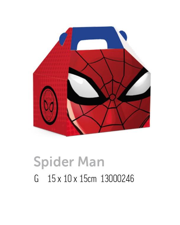 CX MALETA KIDS SPIDER MAN G 15x10x15 PCT C/10 UNIDADES