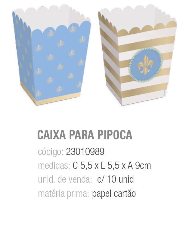 CX P/PIPOCA COMPOSE REINADO DO PRINCIPE PP 5,5x5,5x9 PCT C/10 UNIDADES