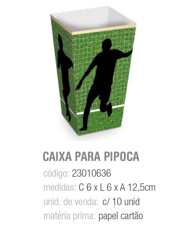 CX P/PIPOCA FUTEBOL 6x6x12,5 PCT C/10 UNIDADES