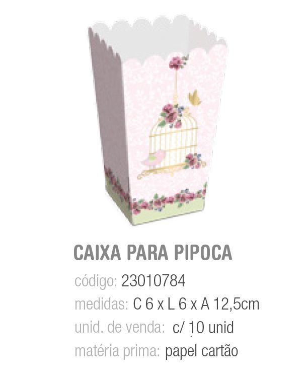 CX P/PIPOCA JARDIM SECRETO 6x6x12,5 PCT C/10 UNIDADES