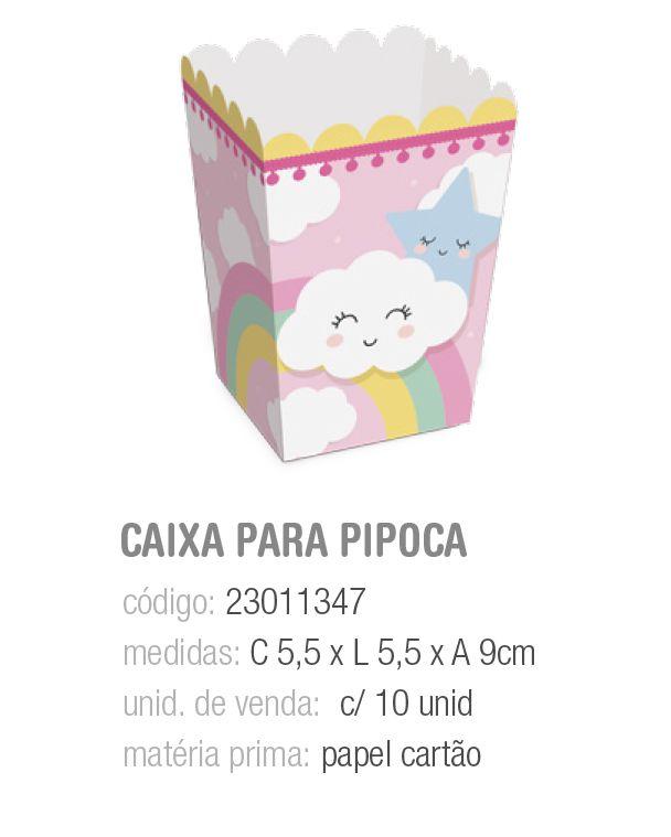 CX P/PIPOCA PEDACINHO DO CEU PP 5,5x5,5x9 PCT C/10 UNIDADES