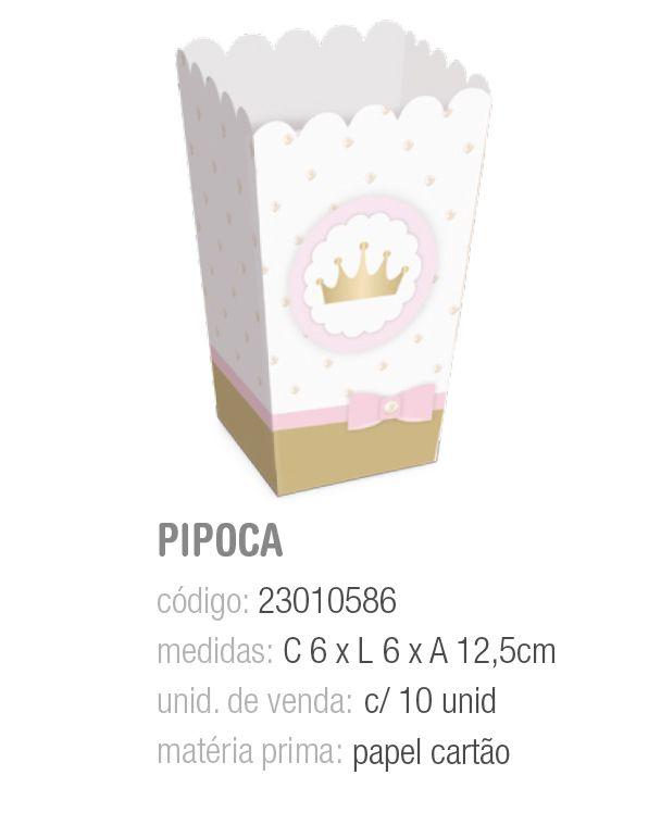 CX P/PIPOCA REINADO DA PRINCESA 6x6x12,5 PCT C/10 UNIDADES