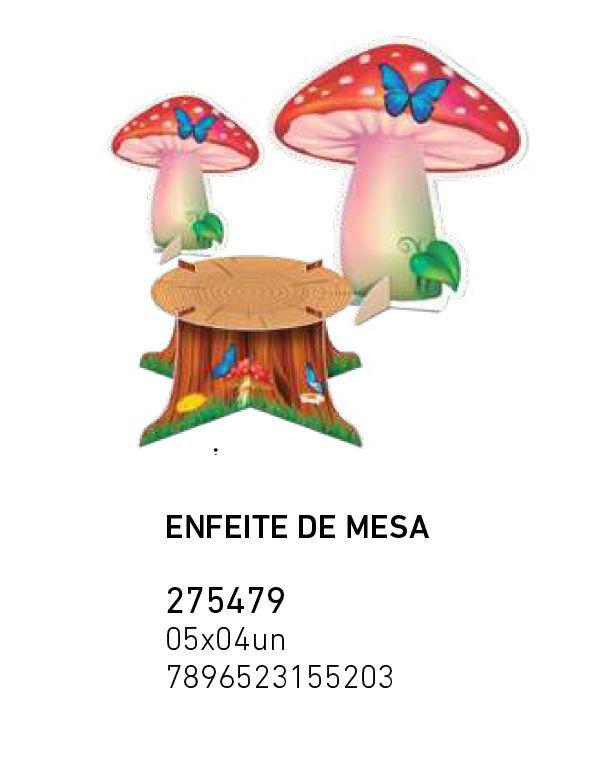 ENFEITE DE MESA BOSQUE PCT C/9 UNIDADES