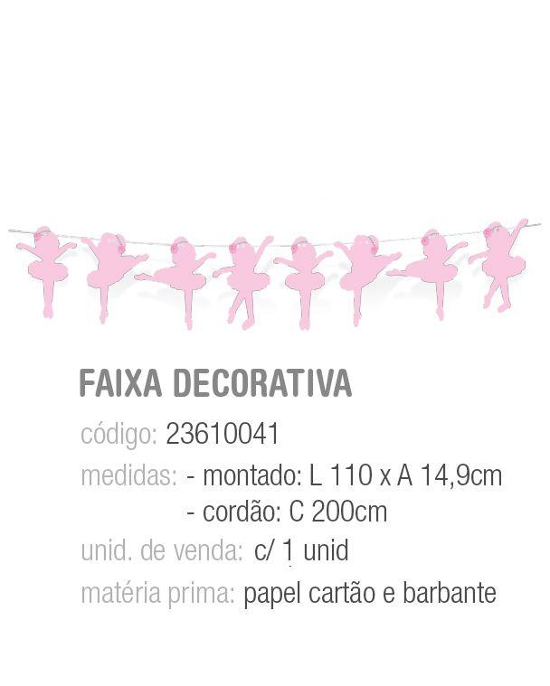 FAIXA DECORATIVA BALLET PCT C/1 UNIDADE